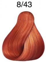 Wella Koleston Perfect barva 8/43 světlá blond měděná zlatá 60ml
