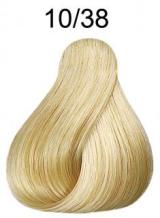Wella Koleston Perfect barva 10/38 intenzivní světlá blond zlatá perleťová 60ml