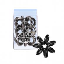 Invisibobble Nano True Black, 3 kusy nano vlasové gumičky černé