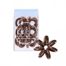 Invisibobble Nano Pretzel Brown, 3 kusy nano vlasové gumičky hnědé