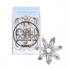 Invisibobble Nano Crystal Clear, 3 kusy nano vlasové gumičky průhledné