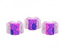 Linziclip MINI růžový s krajkou vlasový skřipec 3 ks