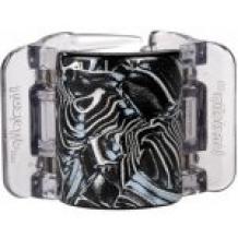 Linziclip MIDI perleťově černý s metalickým vírem vlasový skřipec 1 ks