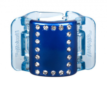 Linziclip MIDI modrý s krystalky vlasový skřipec 1 ks