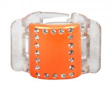 Linziclip MIDI oranžový s krystalky vlasový skřipec 1 ks