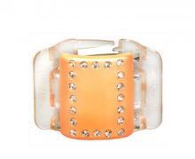 Linziclip MIDI perleťově broskvový s krystalky vlasový skřipec 1 ks