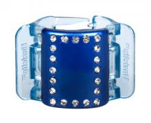 Linziclip MIDI perleťově modrý s krystalky vlasový skřipec 1 ks