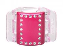 Linziclip MIDI perleťově růžový s krystalky vlasový skřipec 1 ks