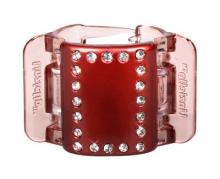 Linziclip MIDI perleťově vínový s krystalky vlasový skřipec 1 ks