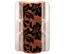 Linziclip MAXI oranžový s krajkou vlasový skřipec 1 ks