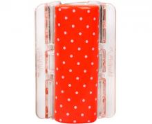 Linziclip MAXI oranžový s puntíky vlasový skřipec 1 ks