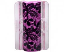 Linziclip MAXI růžový s krajkou vlasový skřipec 1 ks