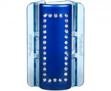Linziclip MAXI perleťově modrý s krystalky vlasový skřipec 1 ks