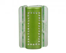 Linziclip MAXI zelený s krystalky vlasový skřipec 1 ks